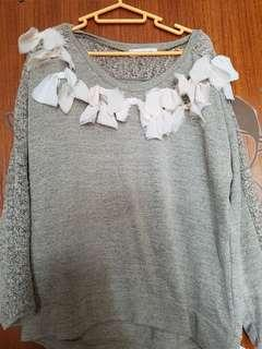 .蝴蝶結針織上衣