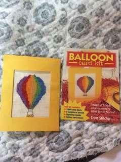 Cross Stitches-Ballon Card Kit