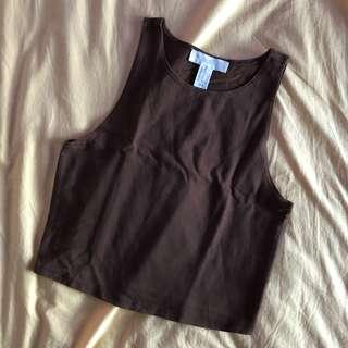 Forever 21 Brown Sleeveless Top