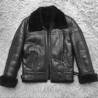 🚚 100%羊皮 皮毛ㄧ體 B3空軍 飛行外套 真皮皮衣