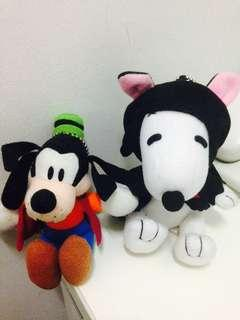 Goofy and snoopy