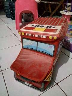 Storage box bentuk mobil fire rescue