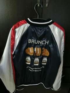 🚚 緞面棒球可愛麵包外套