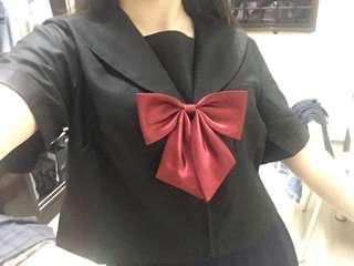 Black Japanese school uniform seifuku top