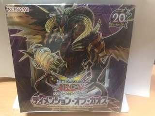 Yugioh dimension of chaos sealed box (print in japan)