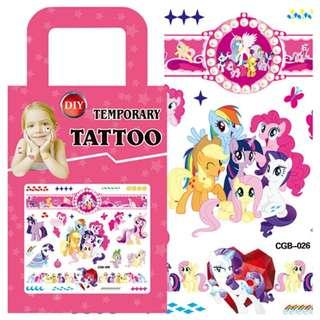 My Little Pony MLP Party supplies - kids tattoos / party tattoos/ party gift / goodie bag gifts