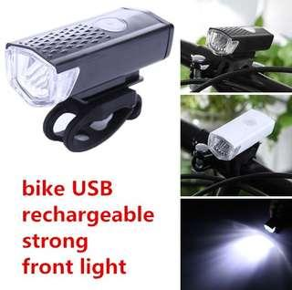 bike bicycle super  strong LED light-USB rechargeable