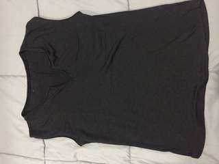 Black non-sleeve top
