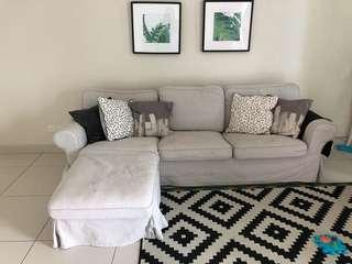 Ikea Ektrop Sofa+Cover