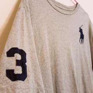 🚚 RalphLauren灰色短袖男大童XL