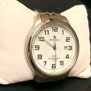 Japan Stainless Steel Unisex Watch 日本銀色綱帶錶 90% New