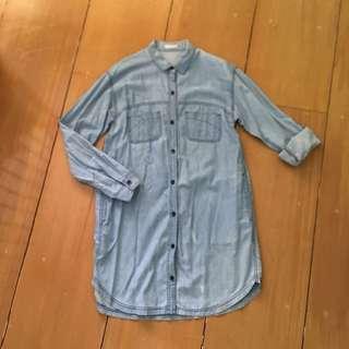 GU Washed Denim Dress