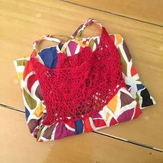 Plains and Prints Crochet Top