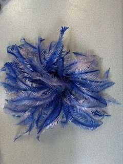 AQUARIUM plastic plant  ~BLUE  水族 水草擺計。。