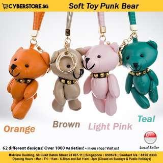 Bag Charm(Soft Toy Punk Bear)