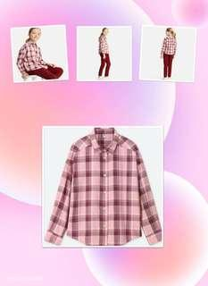 ♡Flannel Checked Long Sleeve Shirt