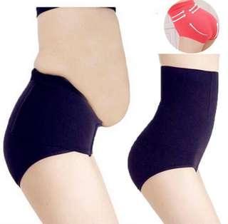 Seamless women high waist slimming belly control panties
