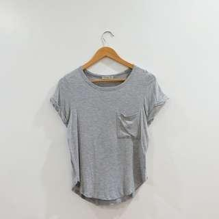 Light Grey Tee with Pocket