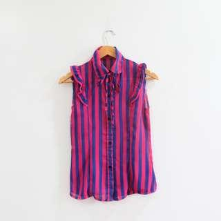 Pink & Blue Stripes Button Down Shirt