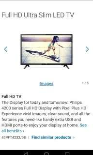 Brand NEW Philips 43 inch HD LED TV