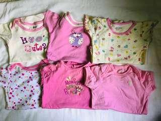 6pcs girl's onesies