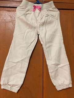 Khaki Girl's joggers pants