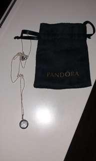 Silver pandora necklace