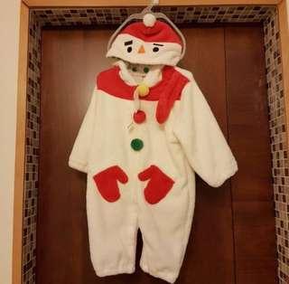 全新 日本小雪人聖誕服(包順豐站自取)