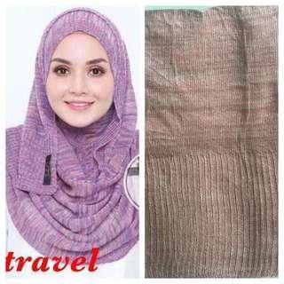 Instant shawl travel tudung