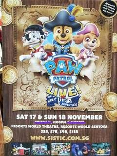 🐕Paw Patrol Musical Live Tickets 2018🐶Singapore