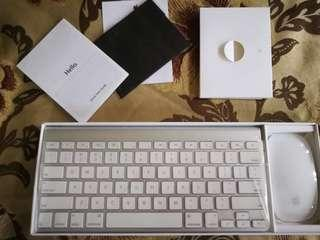 Apple Wireless Keyboard with Apple Mouse