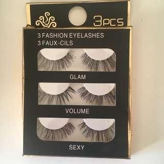 Pack of 3 lashes