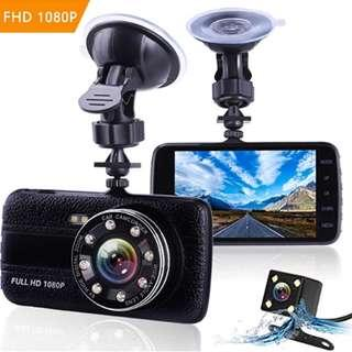 P10 Dash Cams For Cars Front and Rear with Night Vision, Car Camera with 8 Led Lights, 1080P Full HD Dual Lens Dash Cam, 4 Inches Large IPS Screen, 170 wide angle, Loop Recording, G-Sensor