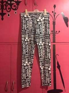 F21 aztec leggings