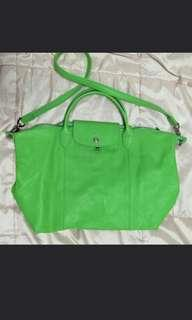 Longchamp Le Pliage Cuir (Authentic)