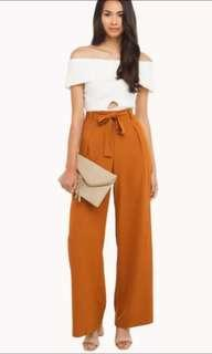 High waist pants straight brand new