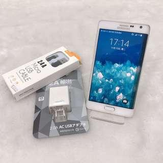 Samsung note edge good functionality with charger no box