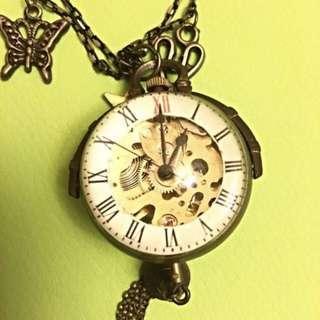 Vintage Necklace Watch 復古上鍊項鍊錶