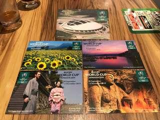 Rugby World Cup Japan 2019 postcards