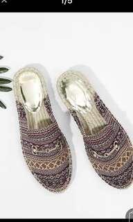 🚚 圓頭尖彩色平底鞋