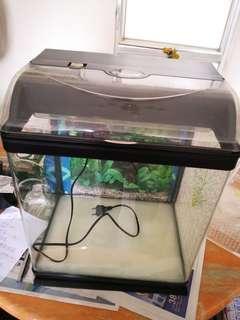 玻璃魚缸氣泵濾水glass fish tank set w equipment