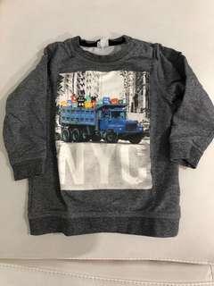H&M NYC Shirt grey marl