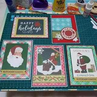 Handmade christmas cards with envelop