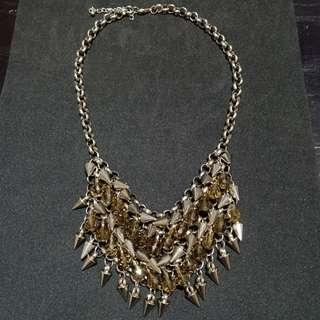 Multilayered Spikes Necklace