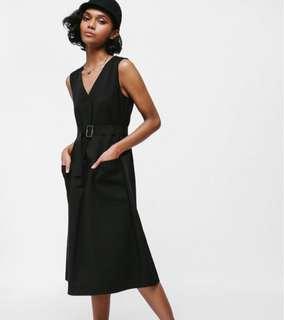 🚚 Love Bonito Salsha Belted Pocket Midi Dress in olive