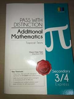 additional mathematics pass with distinction topical tests