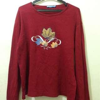 Graphic Sweater Red