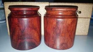 印度小葉紫檀茶葉罐一對