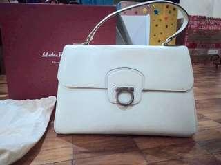 Salvatorre Ferragamo White handbag