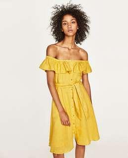 🚚 Zara Off Shoulder Dress